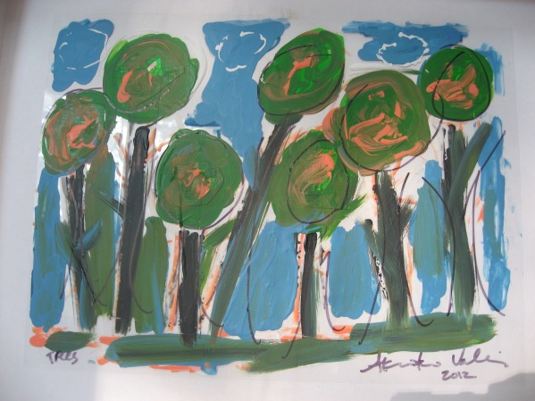trees-9x12-acrylics-sharpie-pen-on-polyester-film
